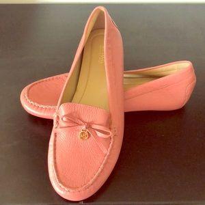 Pink leather Michael Kors flats